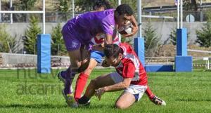 El Rugby Guadalajara cumplió con la iniciativa solidaria. Foto: Nueva Alcarria.