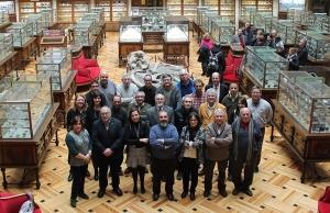El Comité Científico del Geoparque en el Museo Geominero de Madrid.