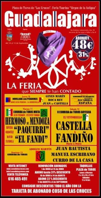 "Carteles de la Feria Taurina de Septiembre, que machaconamente vuelven a llamar ""de la Antigua"""
