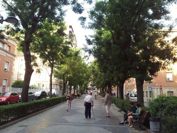 El Paseo de las Cruces en una imagen de ayer; no será objeto finalmente de la remodelación propuesta en el Plan de Movilidad. // Foto: R.Madrid