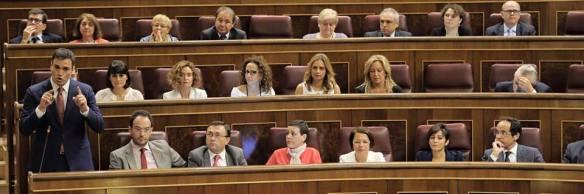 Sesión de control al Gobierno del 27 de septiembre. Valerio en primera fila // Foto: Facebook.