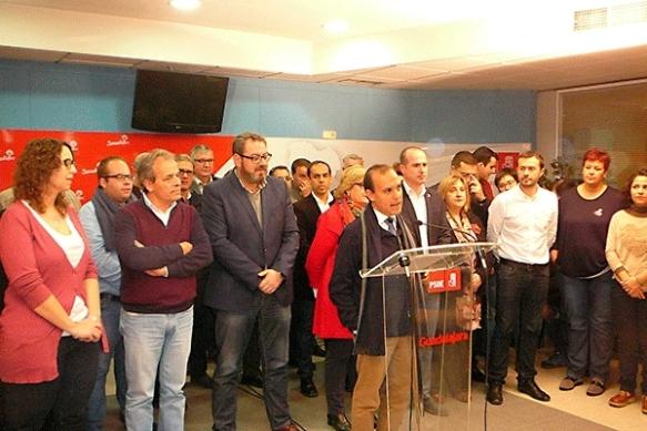 Pablo Bellido, ayer, en rueda de prensa. Foto: PSOE